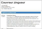 exemple de cv couvreur zingueur cv couvreur zingueur gratuit   CV Anonyme exemple de cv couvreur zingueur